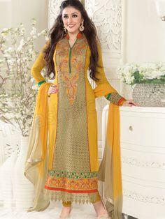 #Designer pakistani suits #Yellow #Indian Wear #Desi Fashion #Natasha Couture #Indian Ethnic Wear # Salwar Kameez #Indian Suit