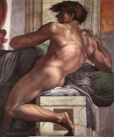 Michelangelo (1475-1564)  Ignudo http://www.google.com/imgres?start=132=1=en=N=1920=955=36=isch=kCr3TJLSe2uP3M:=http://www.terminartors.com/artworkprofile/Michelangelo-Ignudo-1511-II=http://www.terminartors.com/files/artworks/6/1/6/6162/Michelangelo-Ignudo-1511-II.jpg=862=1040=dY5GUNS5L4yAhQeo94DgCw=1=hc=1546=433=1279=247=204=81=172=104023872414428904441=3=142=118=76=1t:
