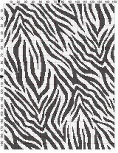 Zebra crochet chart unfortunately no link