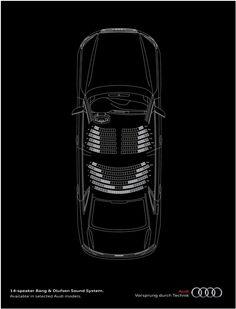 O som do Audi é tão potente que parece que você está em um show ao vivo! Muito bom.
