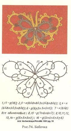 sample tatting pattern pg. 19 Vecherskaya Russian tatting book