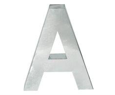 Lettera decorativa in metallo 'a'