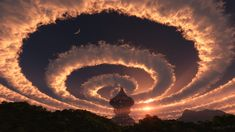 Cloud spiral in the sky. An Iridescent (Rainbow) Cloud in Himalaya. The phenomenon was observed early am 18 Oct 2009 Cloud spiral in the sky. An Iridescent (Rainbow) Cloud in Himalaya. The phenomenon was observed early am 18 Oct 2009 All Nature, Science And Nature, Amazing Nature, Nature Pics, Beautiful Sky, Beautiful World, Beautiful Moments, Science Fiction Kunst, Cool Pictures