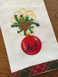 Embroidered Christmas Towel, Holy Family, Christmas Ornament, Dish Towel, Holiday Decor, Holiday Towel, Hostess Gift, Christian Gift by elainestiarasntutus on Etsy