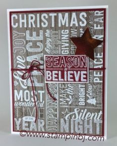 Merry Medley, Stampin' Up!, BJ Peters, #merrymedley, #stampinup, #bjpeters…