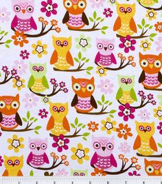 Reserved Sweet Owl Cotton Fabric BTY by Sweetbobbinsfabric Owl Fabric, Cotton Quilting Fabric, Owl Patterns, Print Patterns, Happy Owl, Owl Pictures, Owl Always Love You, Owl Print, Owl Bird