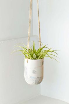 Leah Ball Rocco Marbled Planter