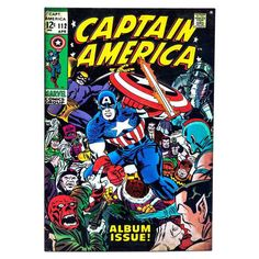 Cover scan of Captain America comic book from Marvel Comics Group. Marvel Comics, Marvel Comic Books, Comic Books Art, Book Art, Comic Art, Marvel Vs, Marvel Characters, Marvel Heroes, Captain America Comic Books