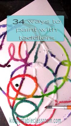 34 ideas for painting activities for toddlers. Use household materials and simple processes and make painting with your toddler simple and fun! for toddlers 34 ideas for painting with toddlers Toddler Art, Toddler Crafts, Preschool Crafts, Diy Crafts For Kids, Arts And Crafts, Preschool Art Projects, Art Crafts, Resin Crafts, Painting For Kids
