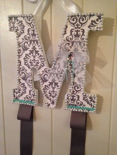 Letter Barrette Holder by Shelly26Designs on Etsy