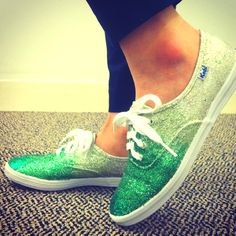 DIY Ombre Glitter Sneakers. I would do light to dark,  but still. Awesome.