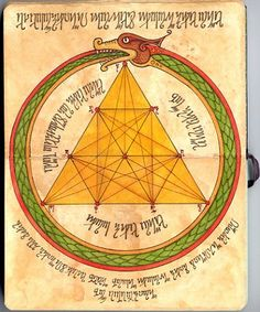 Alchemy Notebook: Tetraktys / Ouroboros Art Print by Ninth Wave Designs - X-Small C G Jung, Ouroboros, Eternal Return, Esoteric Art, Sacred Symbols, Occult Symbols, Occult Art, Mystique, Fractals