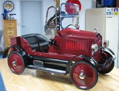 Restored antique pedal car