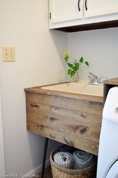 Laundry Room Reveal: $100 Room Challenge - Timeless Creations, LLC