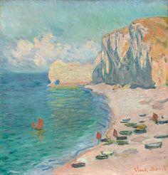 Claude Monet French, 1840-1926, Étretat: The Beach and the Falaise d'Amont