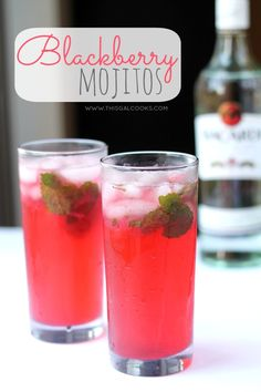 Blackberry Mojito from www.thisgalcooks.com This classic drink is made spectacular with the addition of fresh #blackberry juice! wm