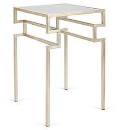 One Kings Lane - Tables for All Occasions - Everett Side Table, Silver