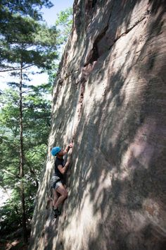 Full Stop's (5.6) steepness is a little intimidating, but all the moves are there.