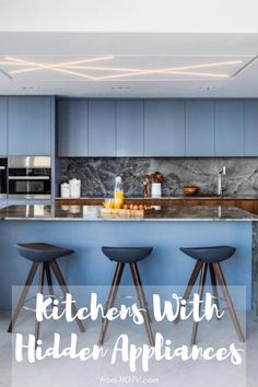 Haven't you heard? Understated appliances are all the rage. Hidden appliances make your kitchen more streamlined, creating a luxe, high-design look.
