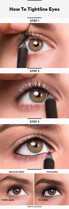 How To Tightline Eyes ~ Tightlining your eyes (also known as invisible eye liner) is ... - http://goo.gl/C5o1hp