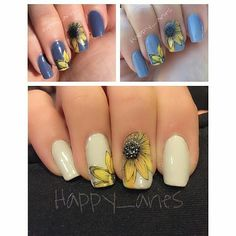 """#EzRepost @happy_aries with @ezrepostapp My yellow and grey mani for when colors collide challenge. I used the color changing polish by Ruby and Wing """"in your dreams"""" and Uberchic plate for the sunflowers. #nails #nailart #whencolourscollide #yellowgrey #naildesign #nails2inspire #nailstagram #nailstamping #rubywingnailpolish #colorchangingpolish #sunflowers #nailchallenge #UberChicBeauty #nails_addicts_group by whencolourscollide"""