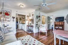 Adorable cozy Lady Butterbug Cottage located in Historic McKinney, TX. Two bedrooms and one bath with full kitchen and tons of amenities found on Airbnb. Two Bedroom, Bedrooms, Airbnb Rentals, Gallery Wall, Cozy, Cottage, Bath, Kitchen, Home Decor