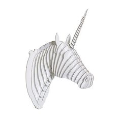 Merlin the Cardboard Unicorn Head is the perfect companion for home or office; a beautiful modern design that makes a great gift.  In addition to