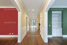 Előszoba és a szobák színes falak — Stock Kép #8657672