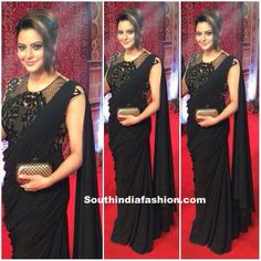 Saree Gowns : Fusion of Indian and Western Wear – South India Fashion Indian Designer Outfits, Designer Dresses, Designer Sarees, Drape Sarees, Indian Bridal Lehenga, Indian Sarees, Saree Gown, Saree Blouse Neck Designs, Stylish Sarees