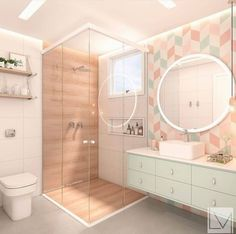35 Pretty and Practical Modern Bathroom Design Ideas for Your New House - Page 5 of 7 - Vivelavi Blo Girl Bedroom Designs, Room Ideas Bedroom, Bedroom Decor, Modern Bathroom Design, Bathroom Interior Design, Minimal Bathroom, Modern Bathrooms, Master Bathrooms, Bathroom Designs