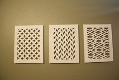 Joyfully Jensen: Cut Canvas, could paint also for a pop of color. Or do a bunch of small ones grouped together.