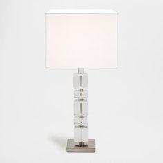 Szklana lampa z sześcianami