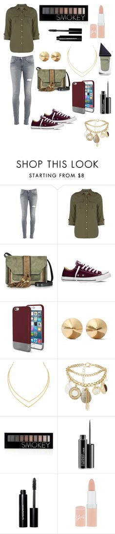 """""""hkj"""" by jasminfashion ❤ liked on Polyvore featuring Dondup, Dorothy Perkins, L'Autre Chose, Converse, Original Penguin, Eddie Borgo, Lana, New Look, Forever 21 and MAC Cosmetics"""