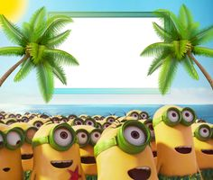 Minions 2015 HD Kids Frame Minion Invitation, Minion 2015, Cute Frames, Frame Background, Minion Party, Bottle Cap Images, Borders And Frames, Cute Photos, Cute Kids
