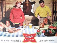 1960s Miller High Life / JELLO Print Ad / Retro Ad / Vintage Beer Ad / Home Decor / Ready to Frame / Paper Ephemera /