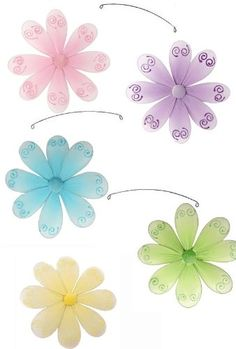 Flower Mobile Pink Purple Yellow Blue Green Swirls « MyStoreHome.com – Stay At Home and Shop