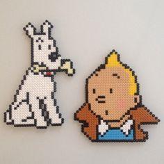 Tintin & Milou hama beads by sylvest_noer