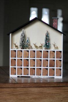 Our Advent Calendar + Ideas - Chris Loves Julia Advent Calendar House, Advent House, Wooden Advent Calendar, Kids Calendar, Calendar Ideas, Calendar Numbers, Christmas Makes, Winter Christmas, Christmas Holidays