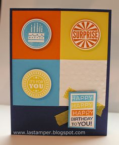 LA Stamper, Stampin' Up!: Simple Card Sunday-Episode 2.  Visit my blog for more simple ideas with this layout.