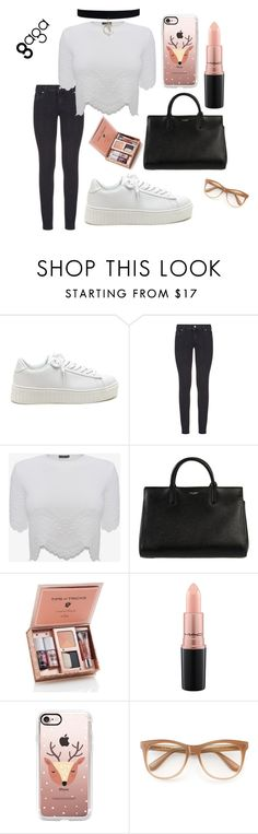 """""""Sin título #176"""" by gabrielae77 ❤ liked on Polyvore featuring Paige Denim, Alexander McQueen, Yves Saint Laurent, MAC Cosmetics, Casetify and Wildfox"""