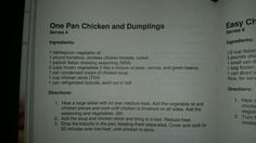One Pan Chicken and Dumplings