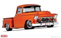 Flawless '55 Chevy Pickup