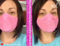 Matching face masks for you & your kid(s)😍 By: Mundo de Isa Face Masks For Kids, Easy Face Masks, Best Diy Face Mask, Sewing Hacks, Sewing Tutorials, Sewing Patterns, Pocket Pattern, Diy Mask, Mask Making