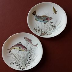 Pair of Johnson Bros Fish Plates , £20.00 by Vintybits: A pair of lovely Johnson Bros Fish Plates Design Nos. 2 & 3. Possibly seconds due to some imperfections - most noticeable is to glazing on tail of fish in Design No. 2 and Design No. 3 has a chip on rim, but only just noticeable when viewed from front. Both plate appear unused and would look great on display or dinner table. Slightly oval shape ~10.5 inches at widest point. SAVE ON P&P - buy more than one item on the same day from ...