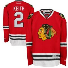 Reebok Duncan Keith Chicago Blackhawks Premier Player Jersey - Red for ME!