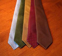A Sam (and David) Hober Tie Appreciation Thread, Powder Blue Linen, Forest Green Linen, Dark Sienna Grenadine, Macclesfield Silk, Brown Cashmere