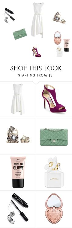 """India"" by fernanda-bravo-argueta on Polyvore featuring moda, Chicwish, Jimmy Choo, Chanel, NYX, Marc Jacobs, Bobbi Brown Cosmetics y Too Faced Cosmetics"