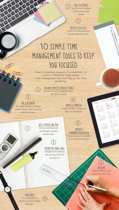 10 Simple Time Management Tools to keep you focused infographic - Tap the link now to Learn how I made it to 1 million in sales in 5 months with e-commerce! I'll give you the 3 advertising phases I did to make it for FREE! Foto Cv, Formation Management, Leadership, Time Management Tools, Stress Management, Change Management, Business Management, Stay Focused, Study Tips