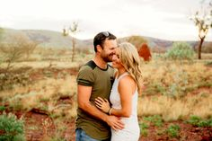 Married Couple in Pilbara Bush at Karijini Tom Price