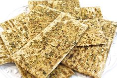 Passover Herbed Baked Matzos Matzo is a thin, crisp, unleavened bread that's eaten during the Jewish Passover holiday. It's traditionally Passover Desserts, Passover Recipes, Jewish Recipes, Passover Holiday, Passover Food, Hanukkah, Holiday Fun, Thanksgiving, Unleavened Bread Recipe